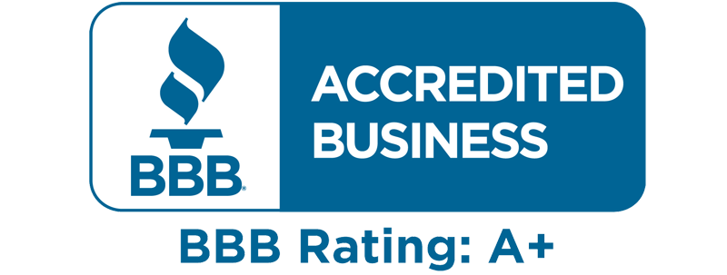 blue and white rectangular image of the BBB Accredited Business logo